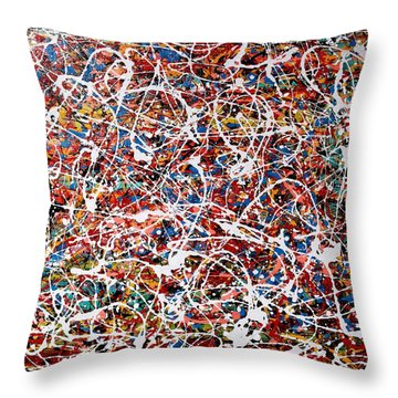 Pietyz Pollock - In Search Of Love Throw Pillow