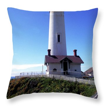 Pigeon Point Lighthouse 3 Throw Pillow by Kathy Yates
