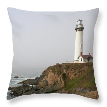 Pigeon Point Lighthouse Throw Pillow by Art Block Collections
