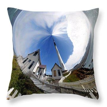 Pigeon Point Lighthouse Polar View Throw Pillow