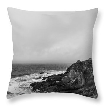 Pigeon Point Lighthouse Throw Pillow by Ralf Kaiser