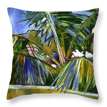 Pigeons On P4 Throw Pillow