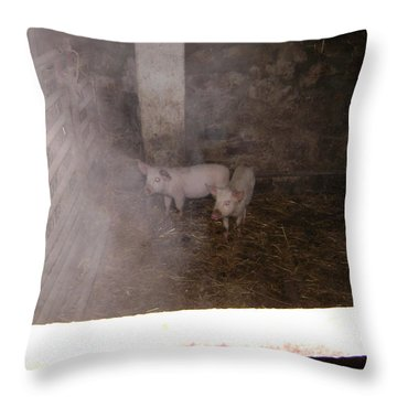 Piggies Throw Pillow