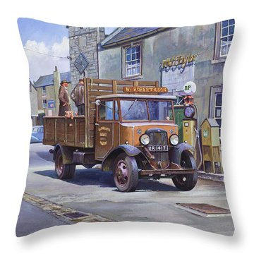 Piggy Goes To Market Throw Pillow
