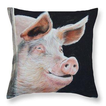 Piggy.  Sold  Throw Pillow