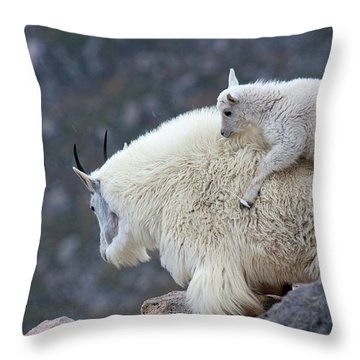 Piggyback Ride Throw Pillow