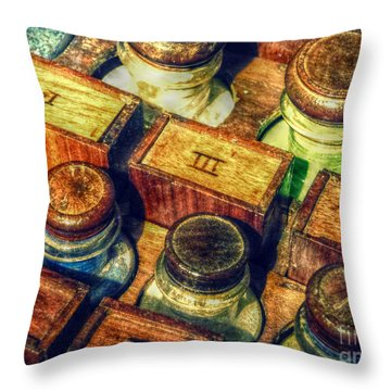 Pigments Throw Pillow by Valerie Reeves