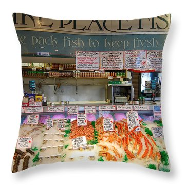 Pike Place Fish Co. Throw Pillow