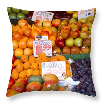 Pike Place Market Seattle Wa Usa Throw Pillow by Panoramic Images