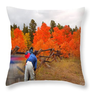Pike To Pike Highway Throw Pillow