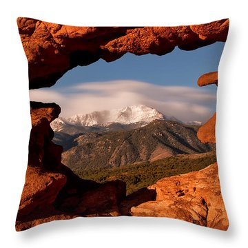 Pikes Peak Framed Throw Pillow