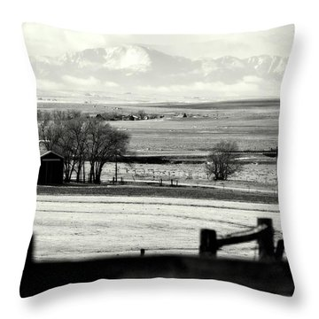 Pikes Peak From Ramah Throw Pillow by Clarice  Lakota