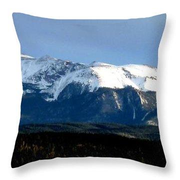 Pikes Peak Panorama Throw Pillow