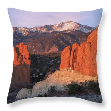 Pikes Peak Sunrise Throw Pillow