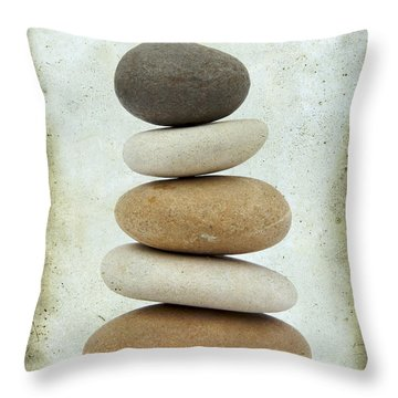 Pile Of Pebbles Throw Pillow