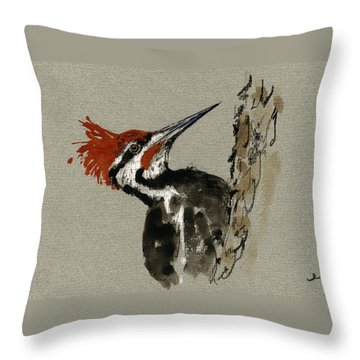 Woodpecker Throw Pillows