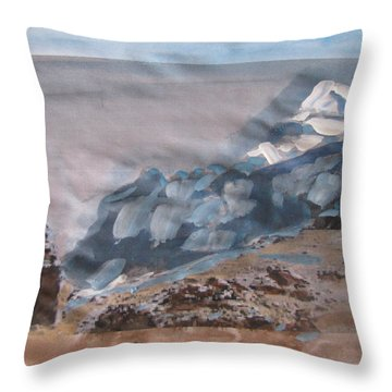 Pilgrim To Mount Kailash Throw Pillow
