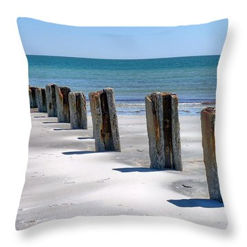 Pilings Throw Pillow