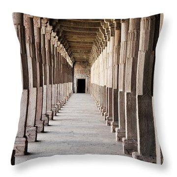 Pillar Hall In The City Of Joy Throw Pillow by Four Hands Art