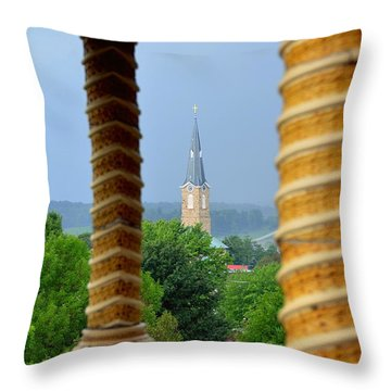 Pillar Of Strength Throw Pillow