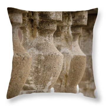 Throw Pillow featuring the photograph Pillars by Courtney Webster