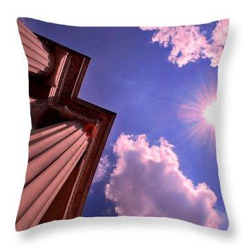Throw Pillow featuring the photograph Pillars In The Sun by Matt Harang