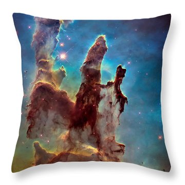 Pillars Of Creation In High Definition Cropped Throw Pillow