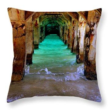 Pillars Of Time Throw Pillow by Karen Wiles