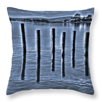 pillars on the Bay Throw Pillow