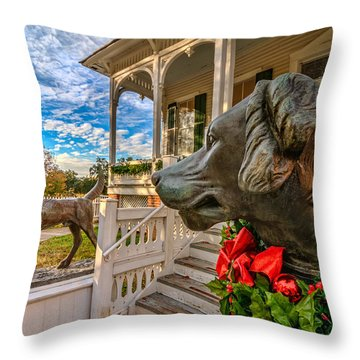 Pillot House Dogs Throw Pillow