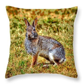 Pillow Bunny 1  Throw Pillow