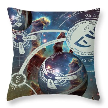 Throw Pillow featuring the photograph Pillow Of Creation by Robert Kernodle