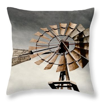 Monitor Windmill Throw Pillow