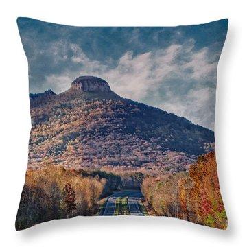 Pilot Mountain Throw Pillow