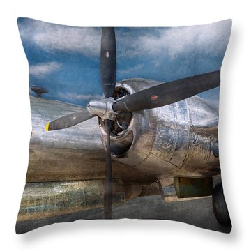 Pilot - Plane - The B-29 Superfortress Throw Pillow by Mike Savad