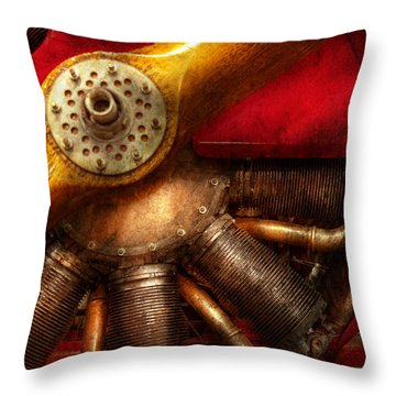 Pilot - Prop - The Barnstormer Throw Pillow by Mike Savad