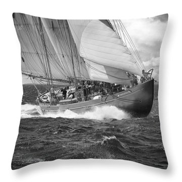 Pilot Schooner Virginia Throw Pillow