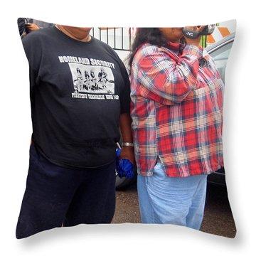 Pima Indians Watching Parade Sacaton Arizona 2005 Throw Pillow