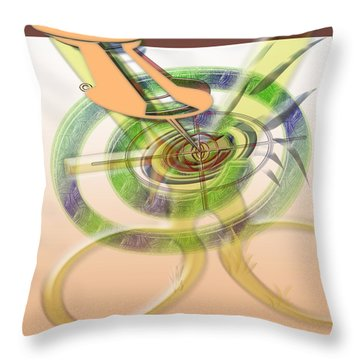 Pin Pointer Throw Pillow