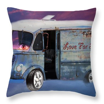 Throw Pillow featuring the photograph Pin Up Cars - #2 by Gunter Nezhoda