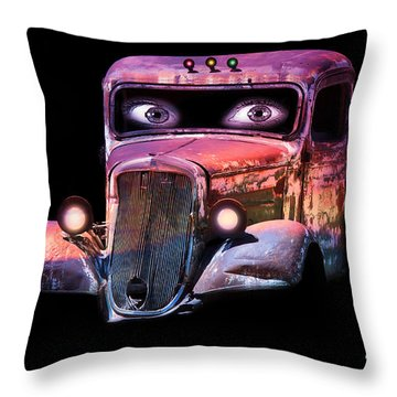 Throw Pillow featuring the photograph Pin Up Cars - #3 by Gunter Nezhoda