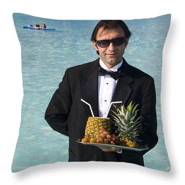 Pina Colada Anyone Throw Pillow by David Smith