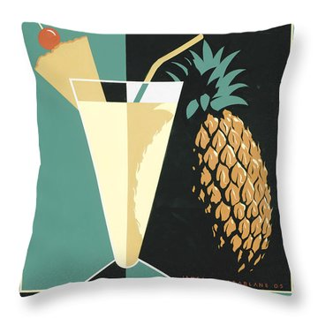 Pina Colada Throw Pillow by Brian James