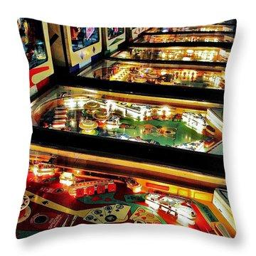 Pinball Arcade Throw Pillow by Benjamin Yeager