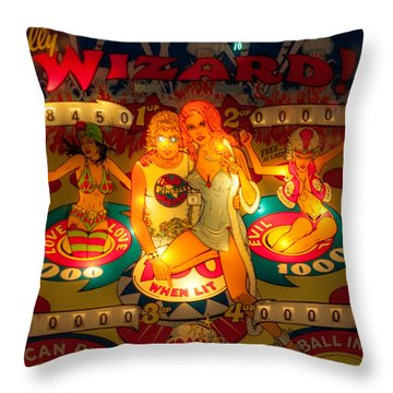 Pinball Wizard Tommy Vintage Throw Pillow
