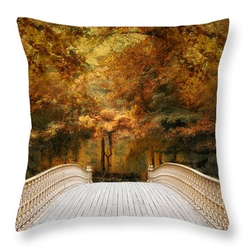 Throw Pillow featuring the photograph Pine Bank Autumn by Jessica Jenney
