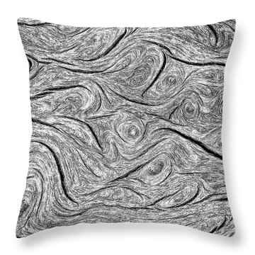 Pine Bark Abstract Throw Pillow