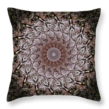 Pine Bark Mandala #1 Throw Pillow