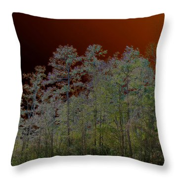 Throw Pillow featuring the photograph Pine Forest by Connie Fox