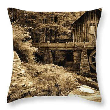 Pine Run Grist Mill Throw Pillow by Priscilla Burgers